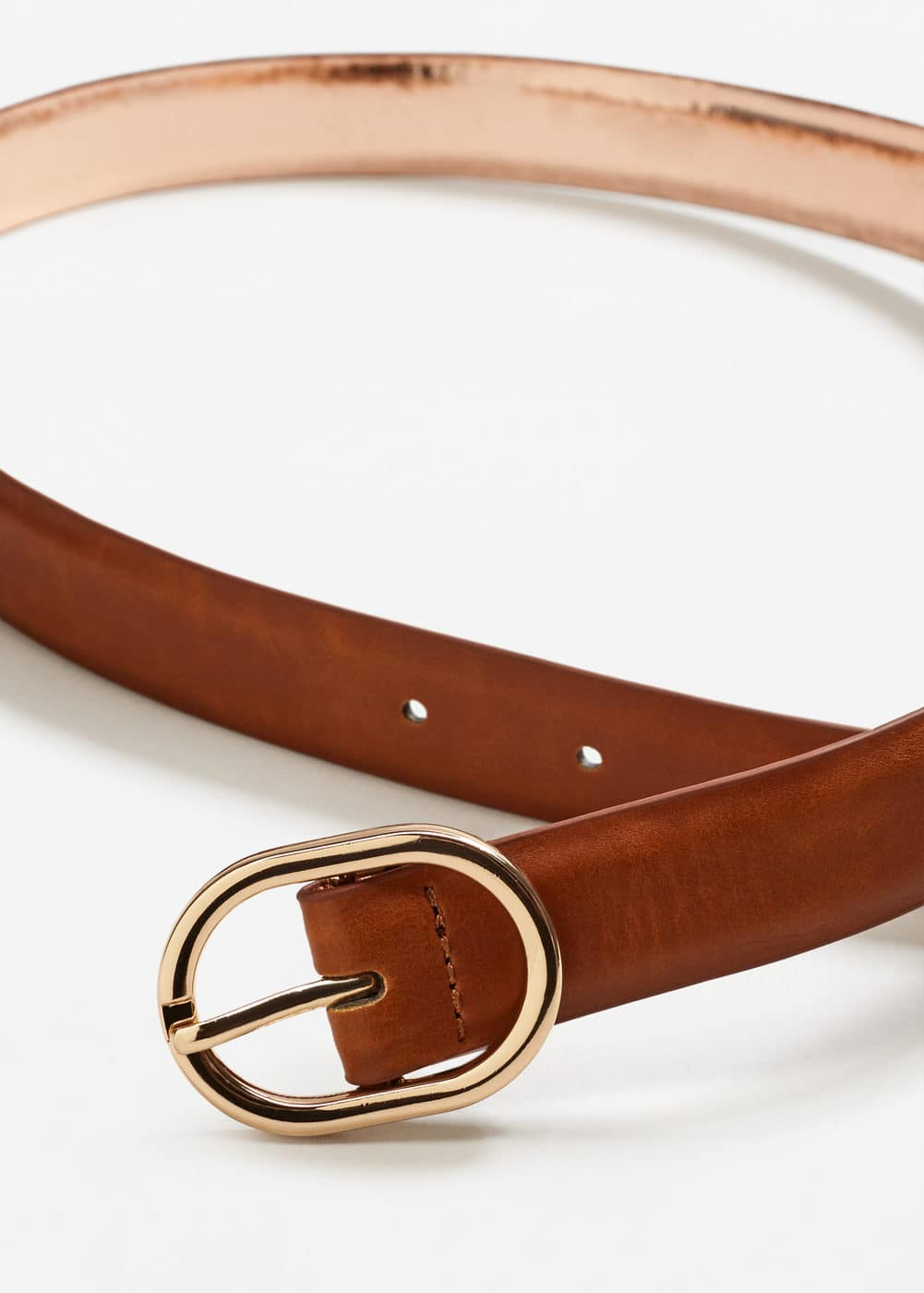 Metal detail belt | MANGO