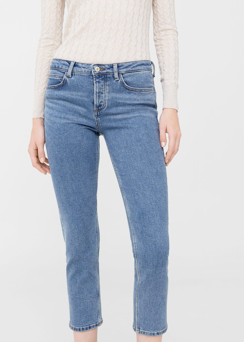 Straight retro jeans | MANGO
