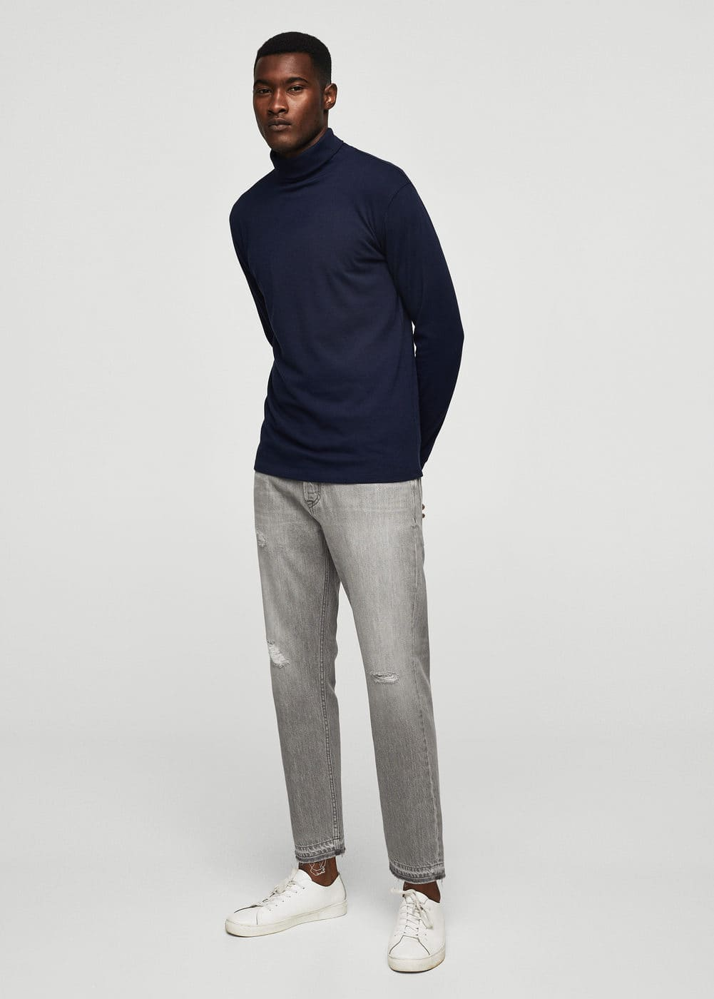 Straight-fit grey just jeans | MANGO MAN