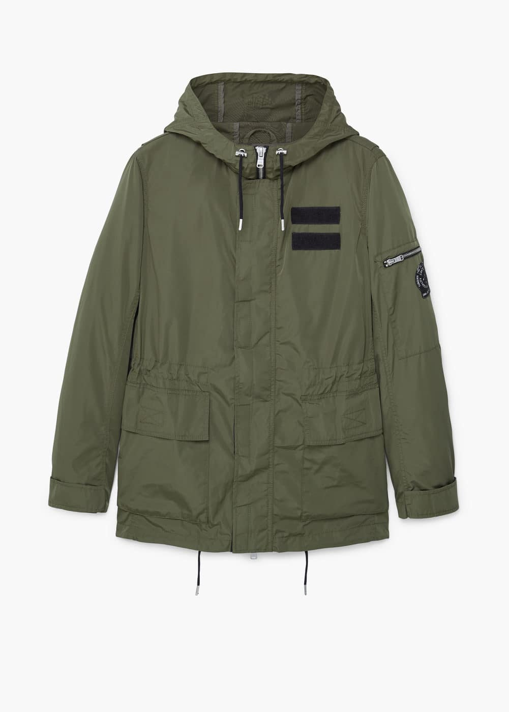 Hooded water-repellent parka | MANGO MAN