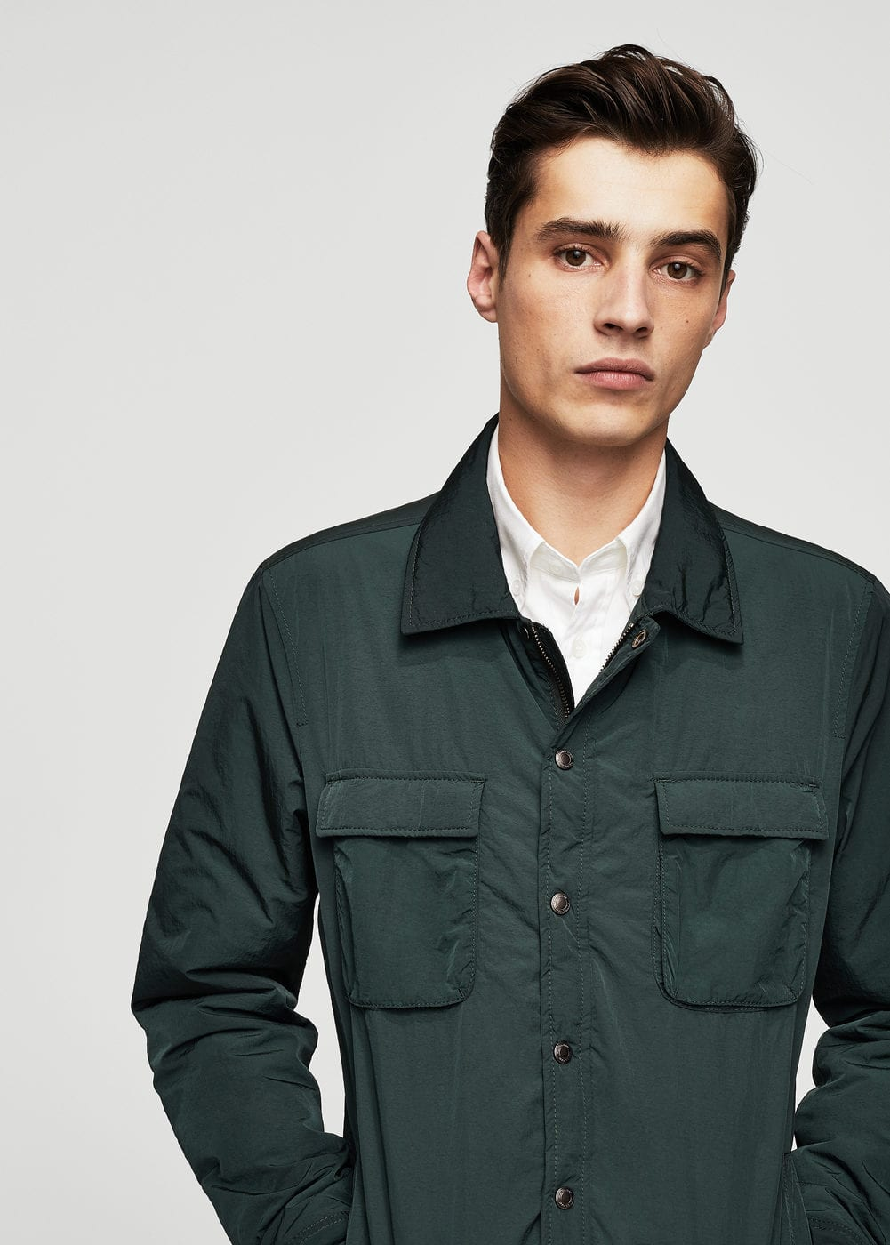 Pocket nylon jacket | MANGO MAN