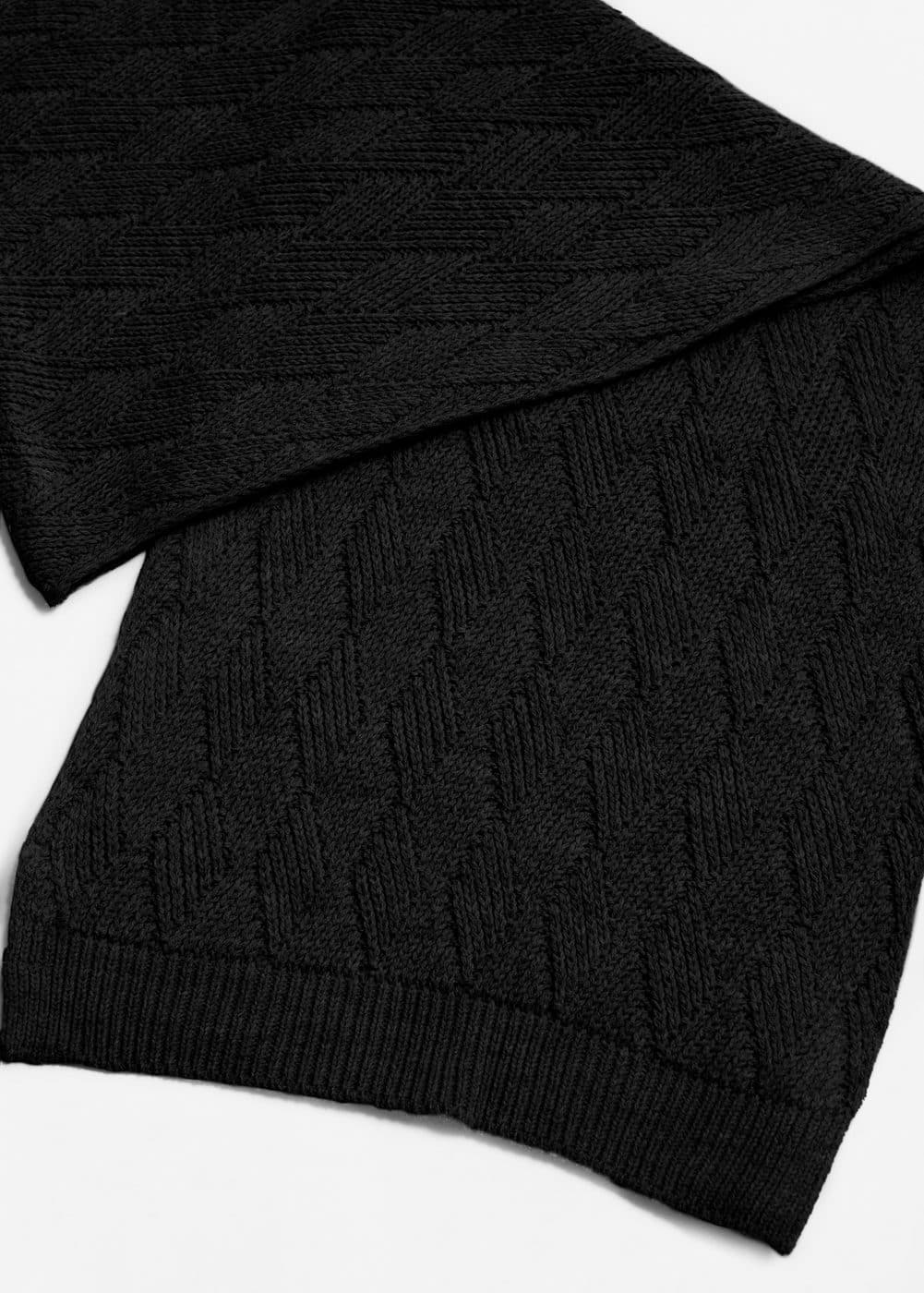 Diamond knit scarf | MANGO