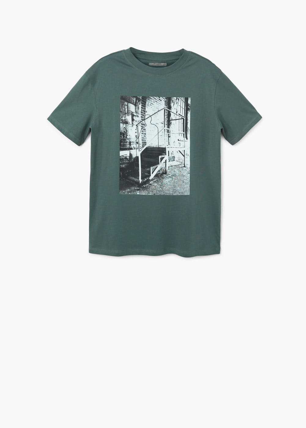 Image cotton t-shirt | MANGO MAN