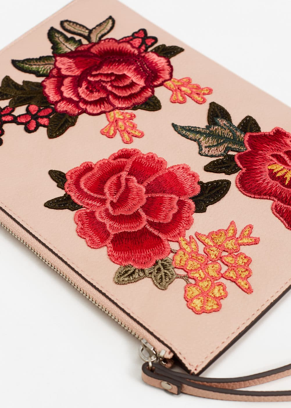 Floral embroidered cosmetic bag | MANGO