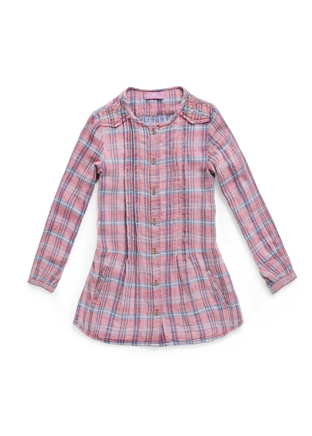 Metal appliqués check shirt | MANGO KIDS