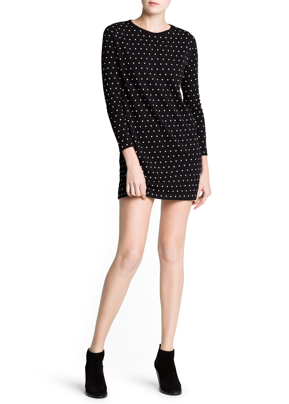 Polka-dot cotton dress | MANGO