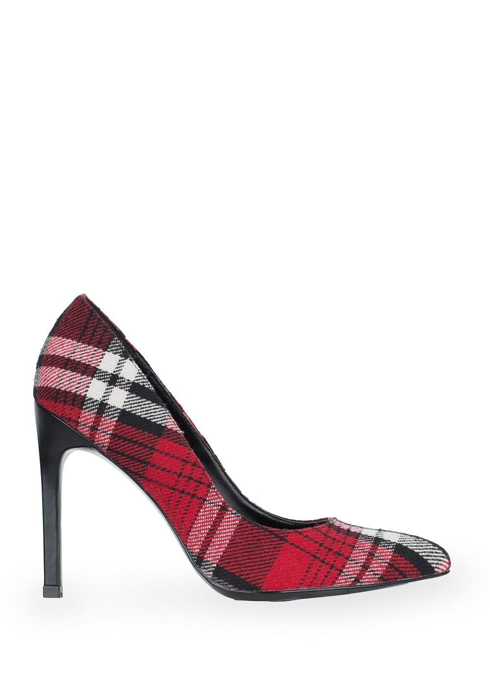 Plaid stiletto shoes | MANGO