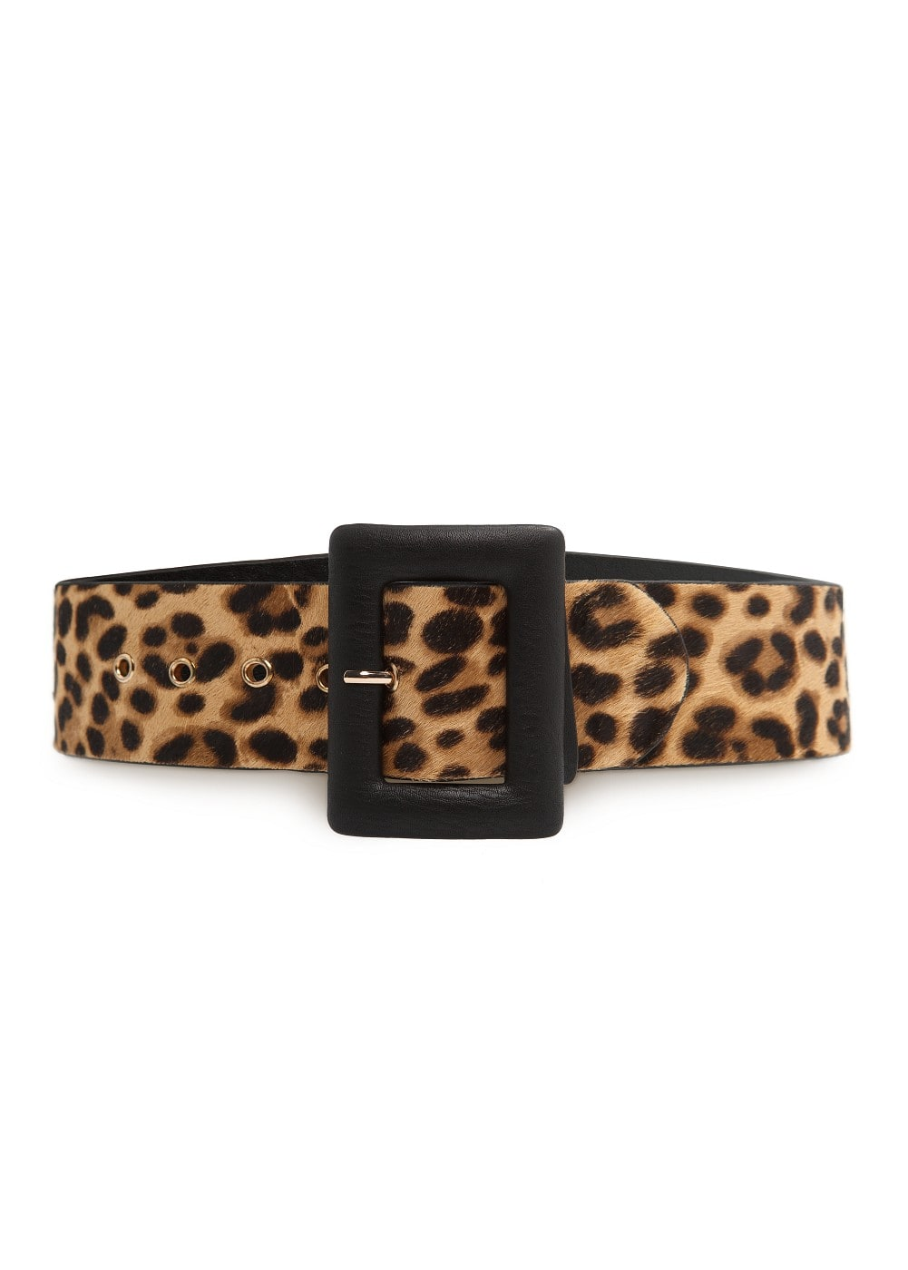 Leopard fur wide belt | MANGO