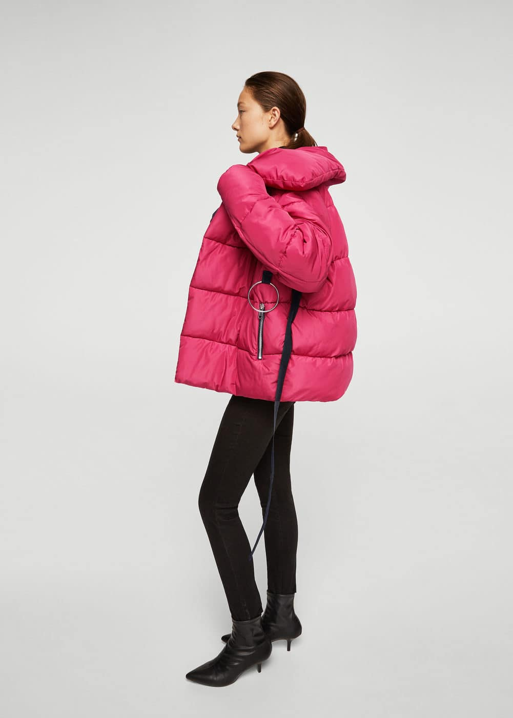 Ring oversize quilted coat | MANGO