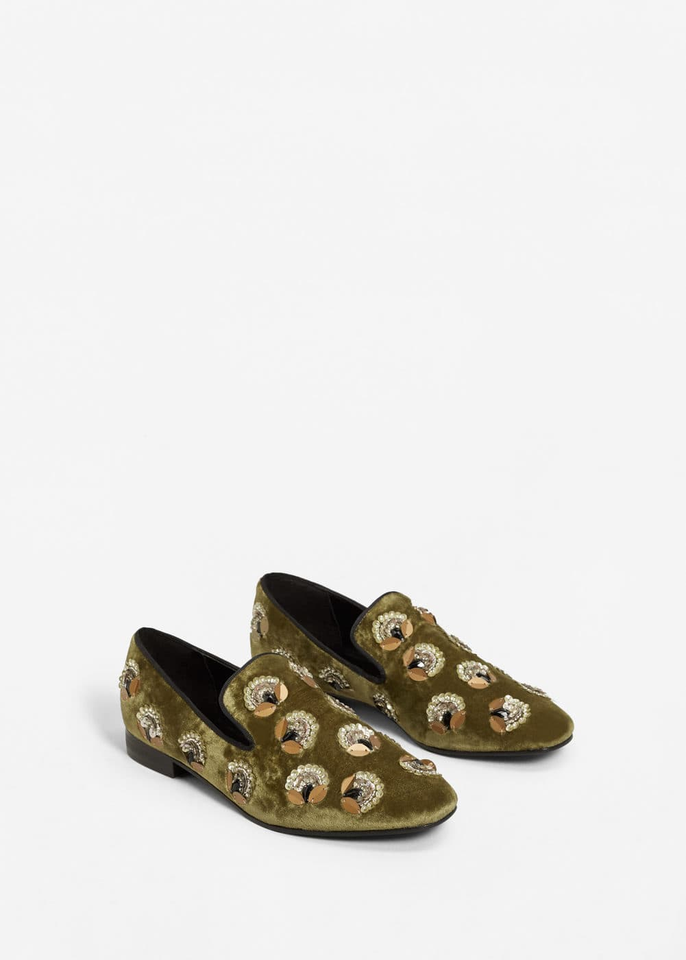 Appliqués velvet loafers | MANGO