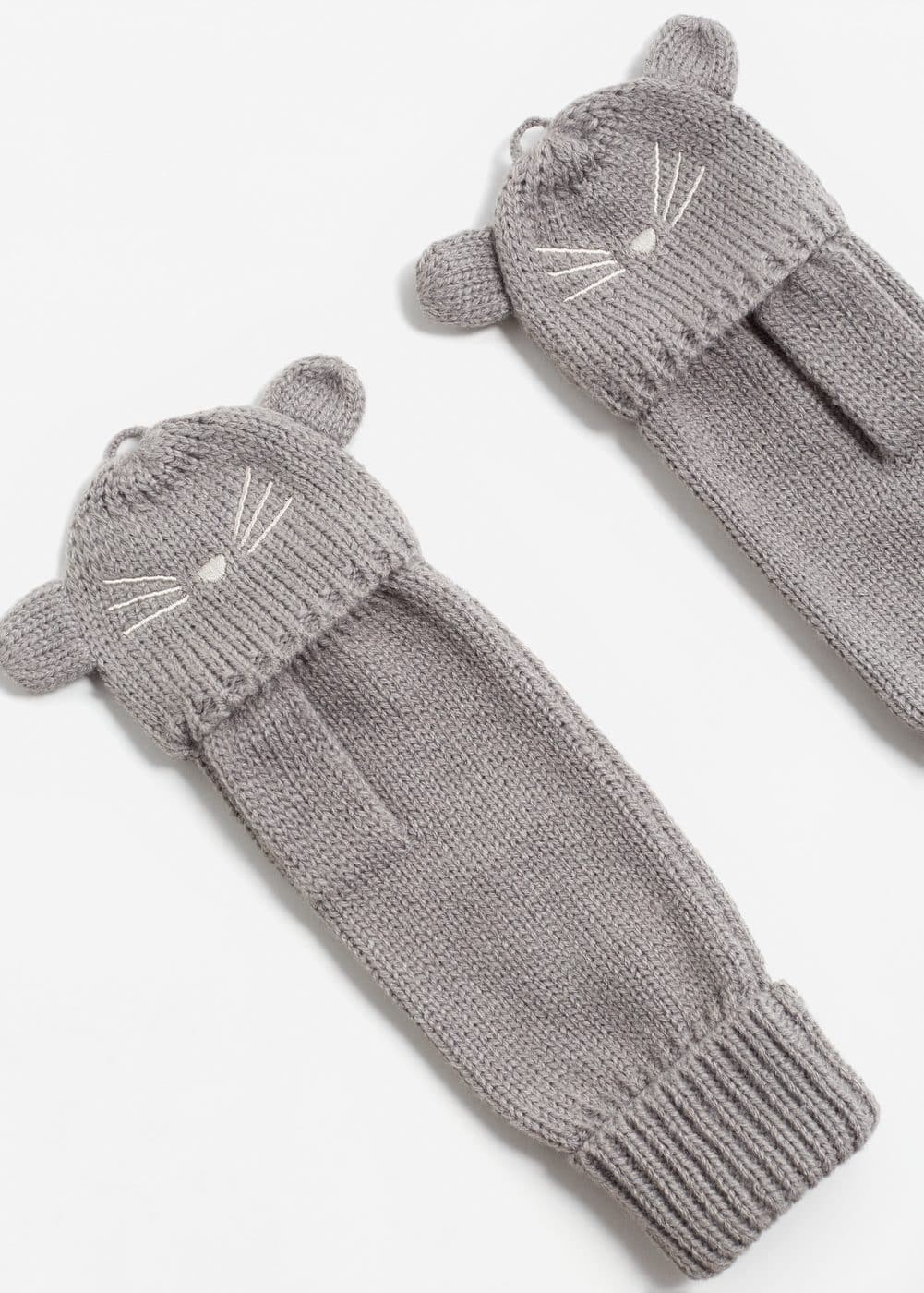 Cat hood gloves | MANGO