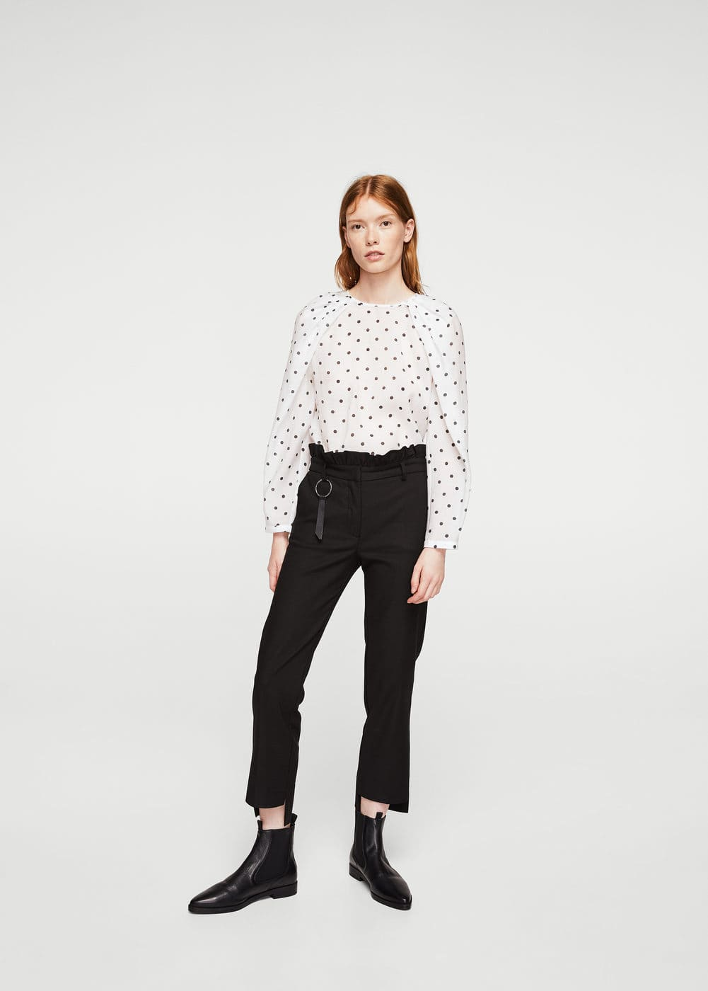 Puffed-shoulder blouse | MANGO