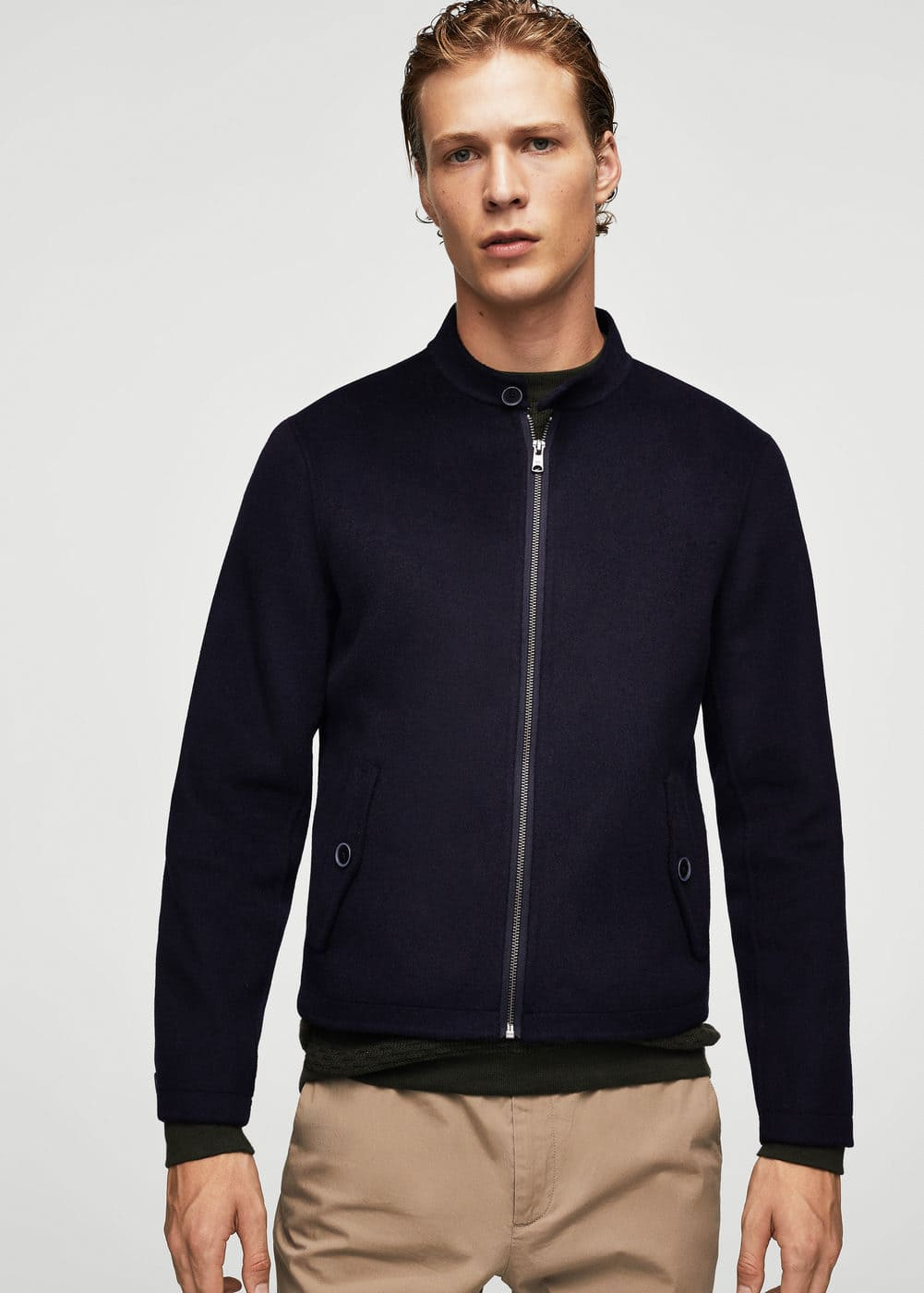 Pocket wool-blend jacket | MANGO MAN