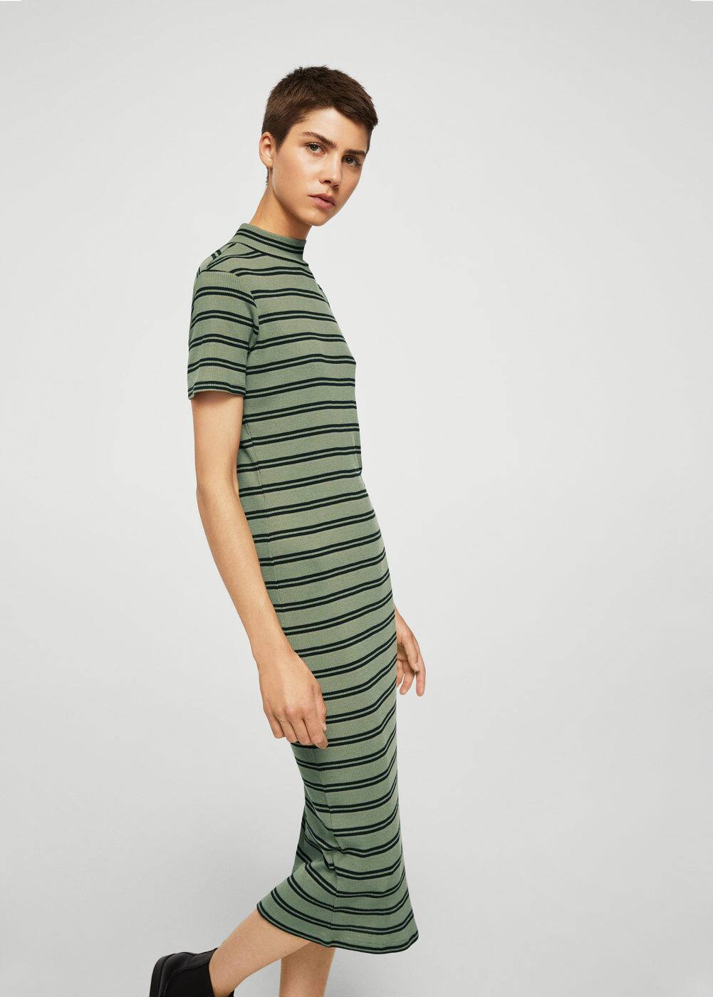 Striped fitted dress | MANGO