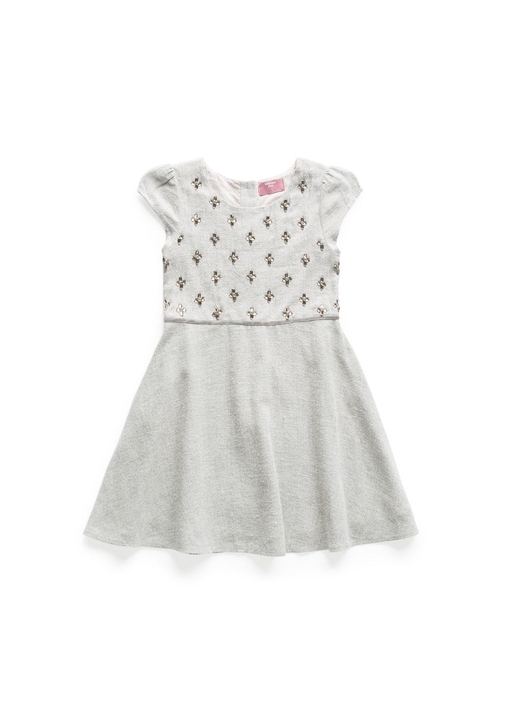 Crystal details flared dress | MANGO KIDS
