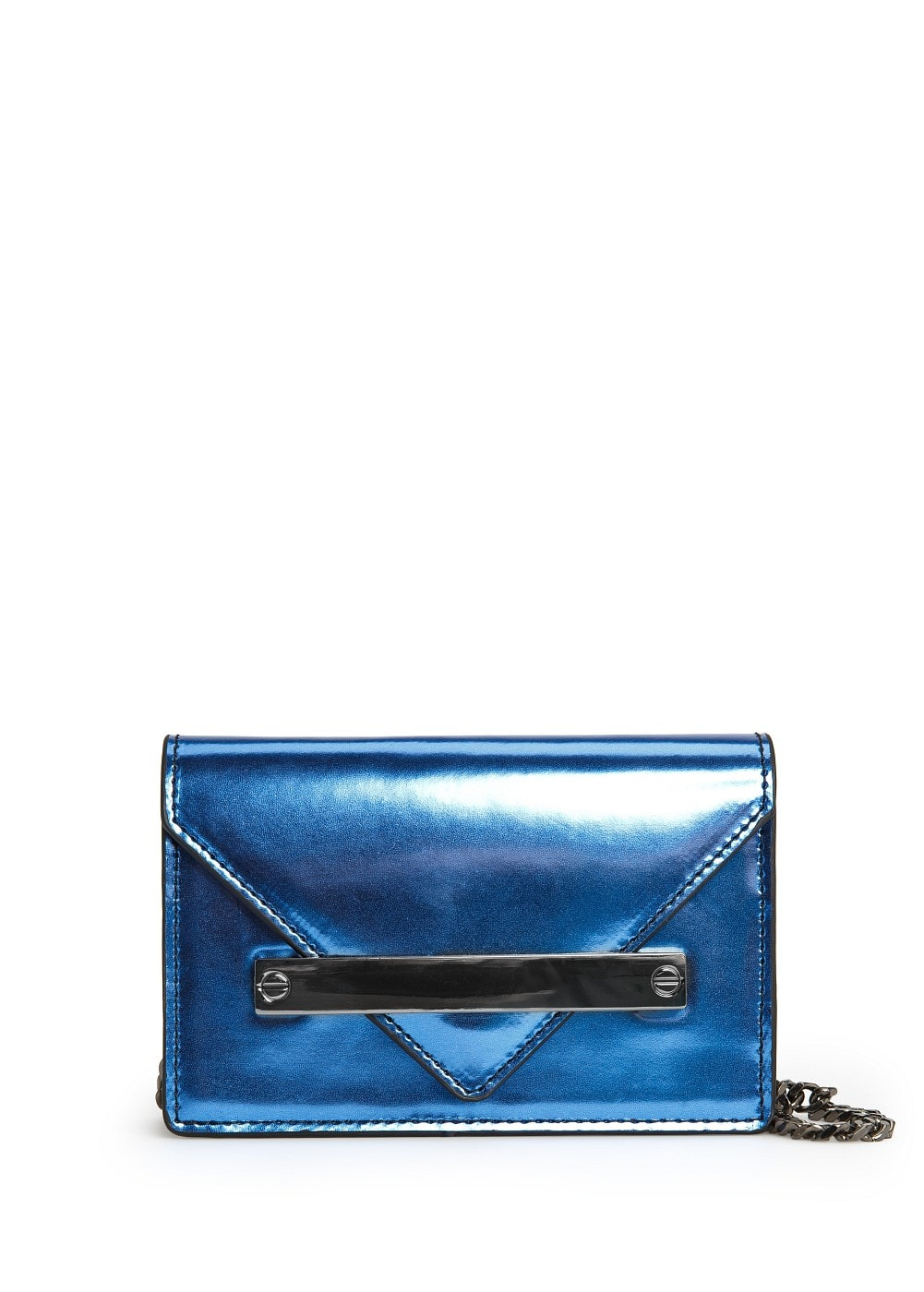 Metallic shoulder bag | MANGO