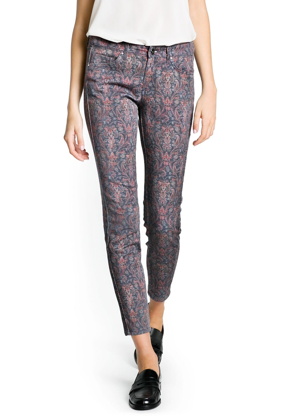 Slim-fit paisley print trousers | MANGO MAN