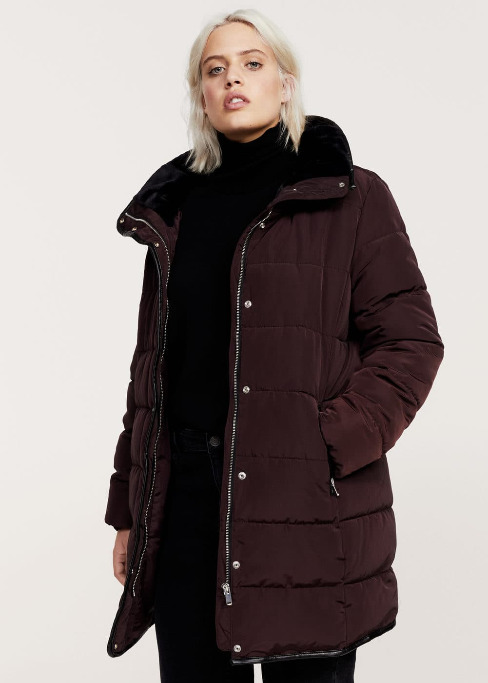 Quilted long coat | MANGO