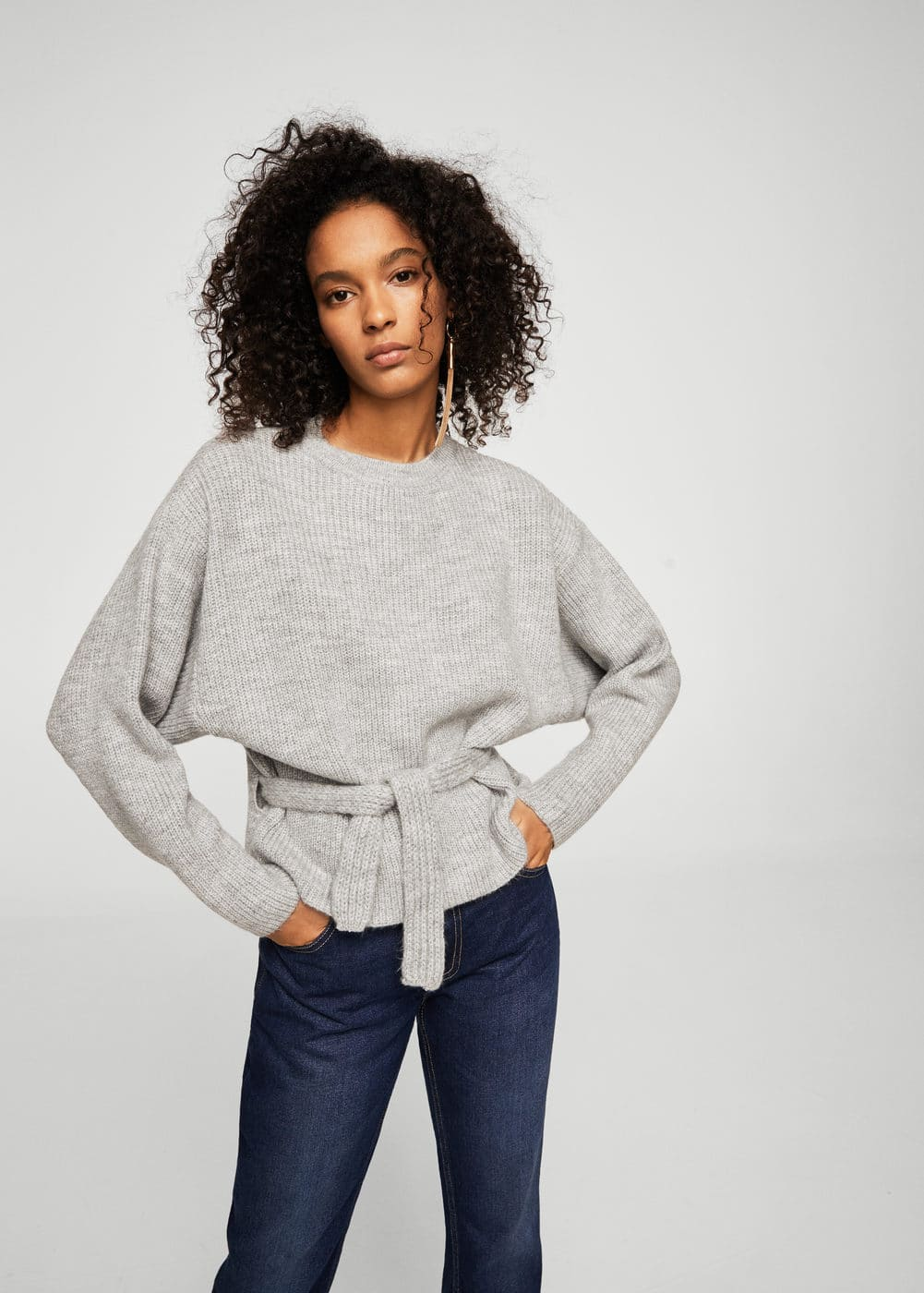 Knit belt sweater | MANGO