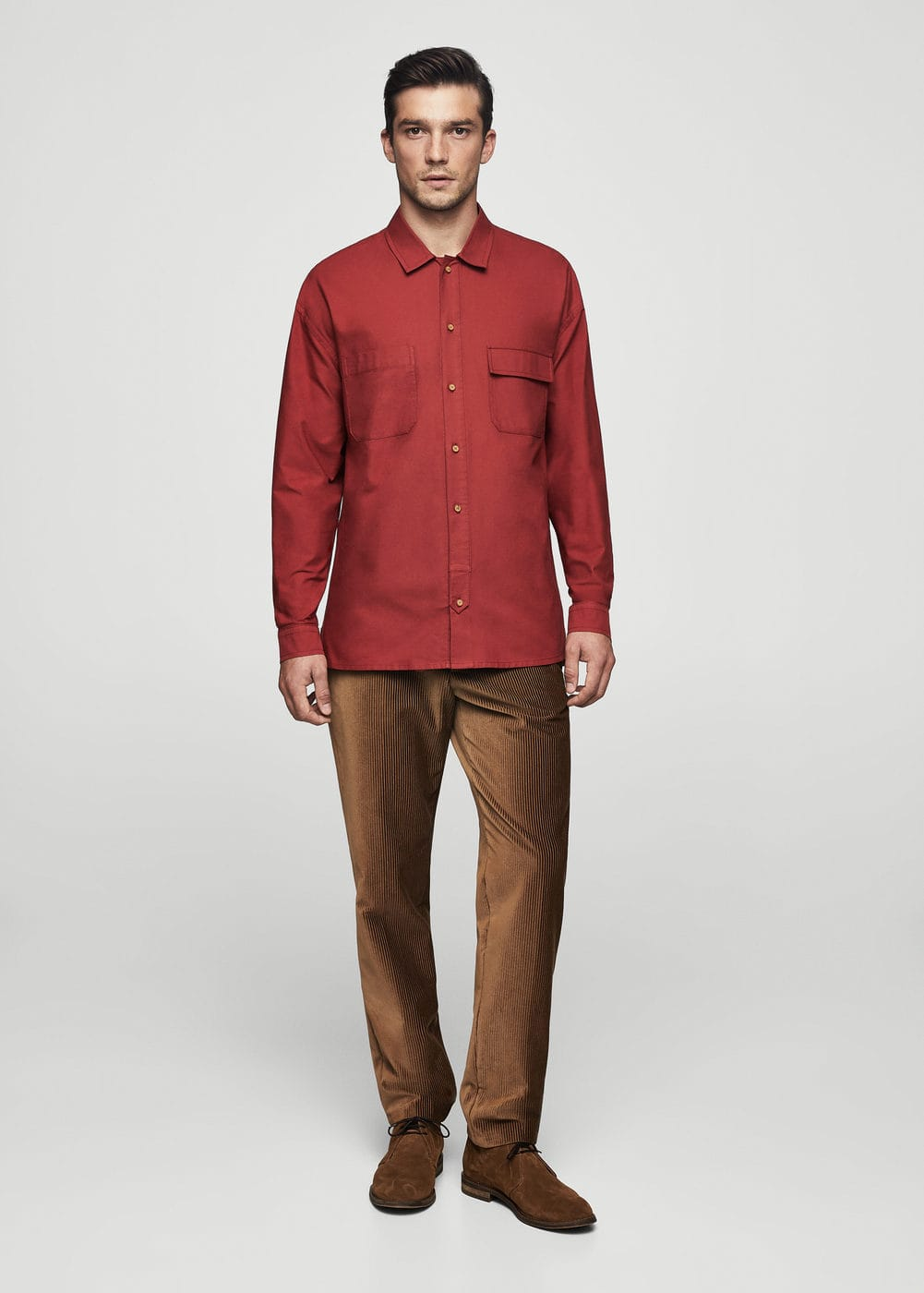 Regular-fit organic cotton shirt | MANGO MAN