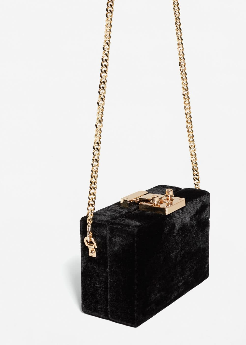 Velvet coffer bag | MANGO