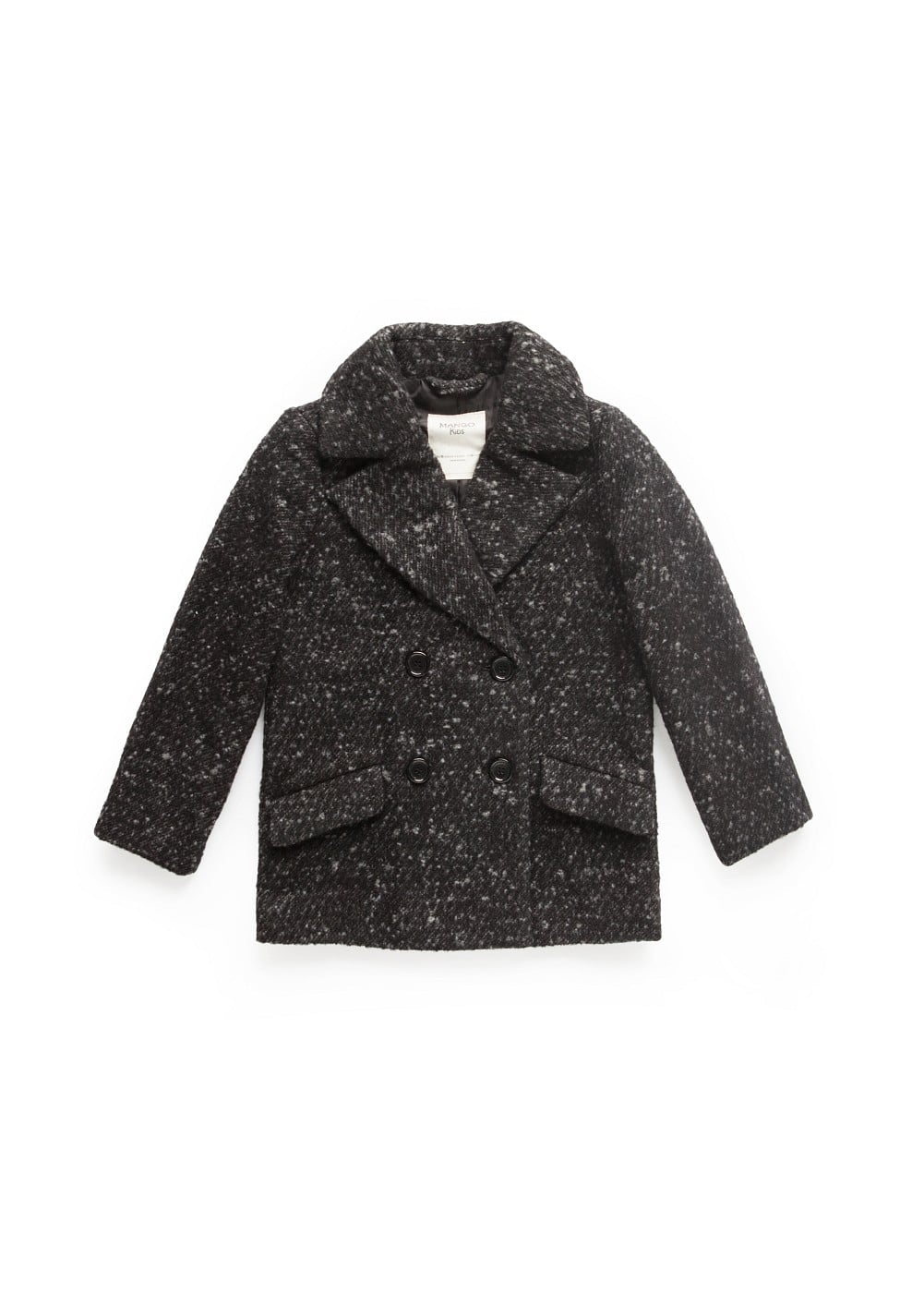 Flecked wool-blend coat | MANGO KIDS