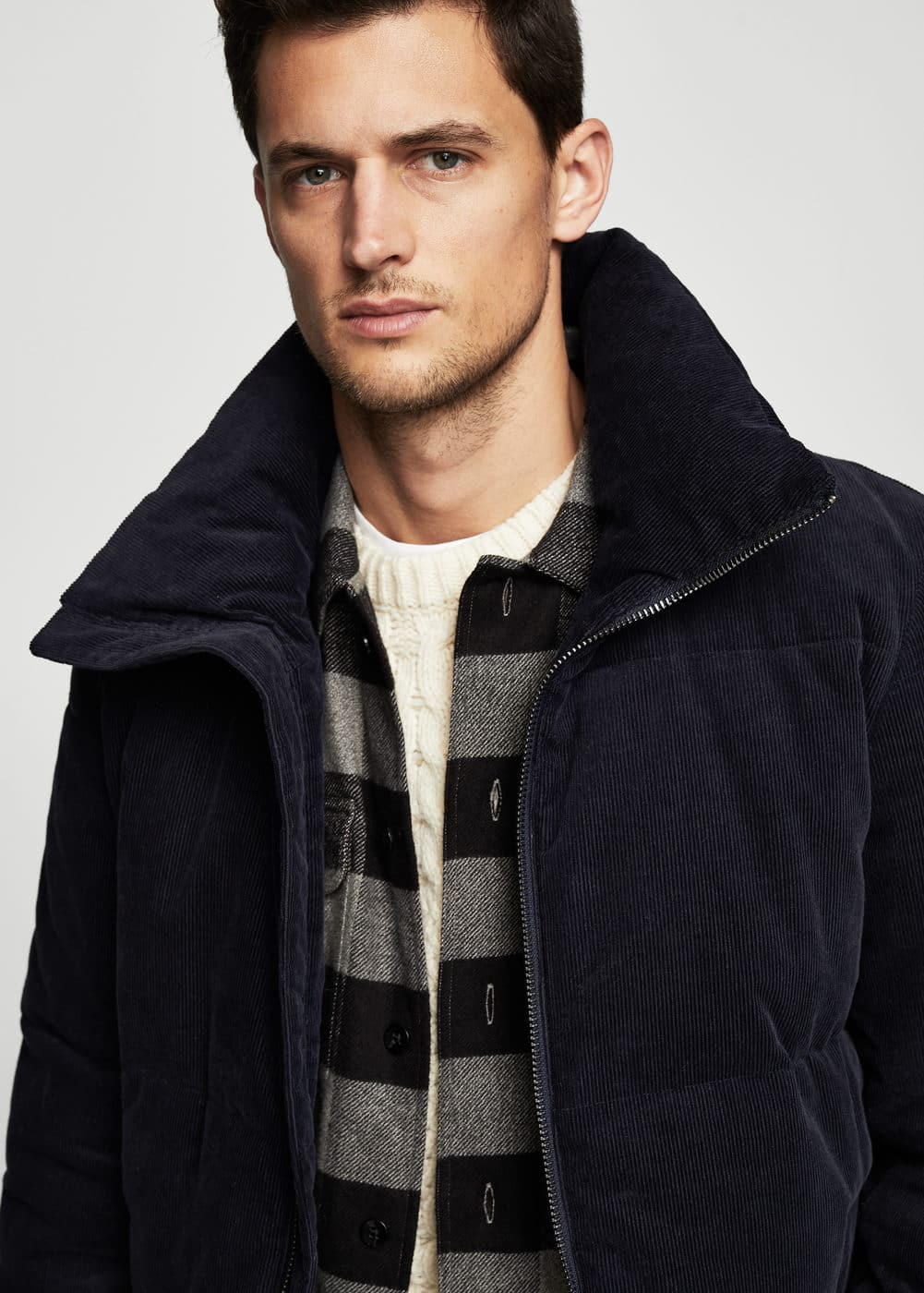 Corduroy quilted coat | MANGO MAN