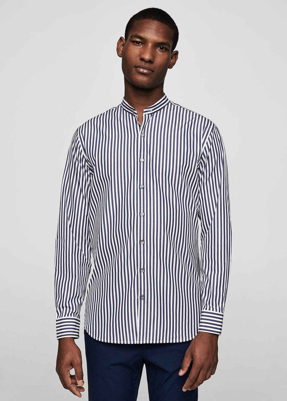 Camicia slim-fit cotone righe | MANGO MAN