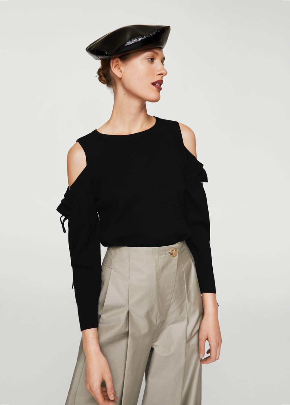 Cold-shoulder sweater | MANGO