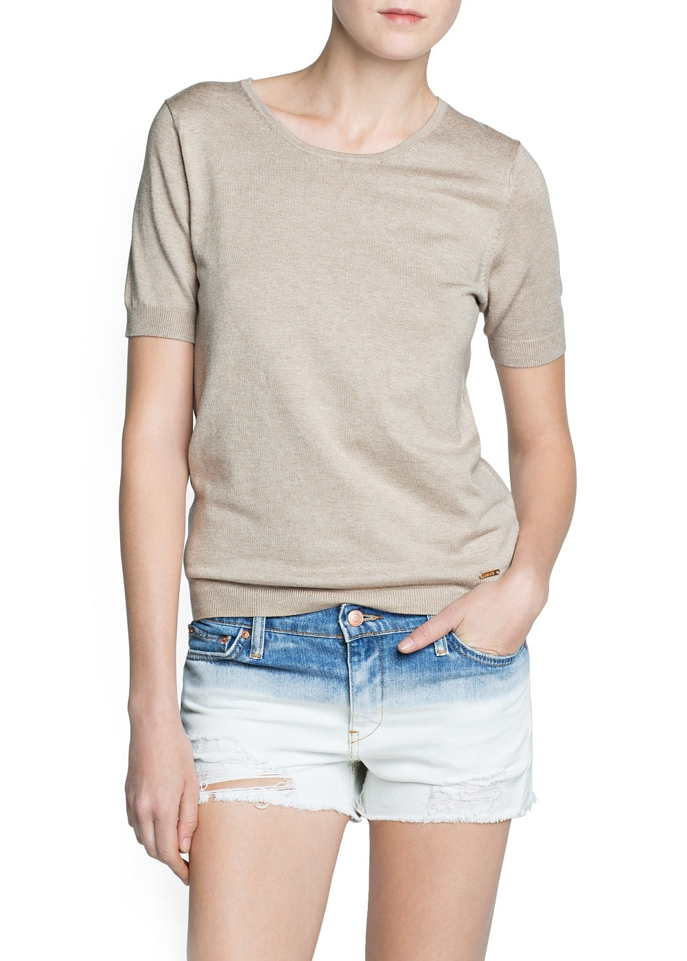 Short sleeved essential sweater | MANGO