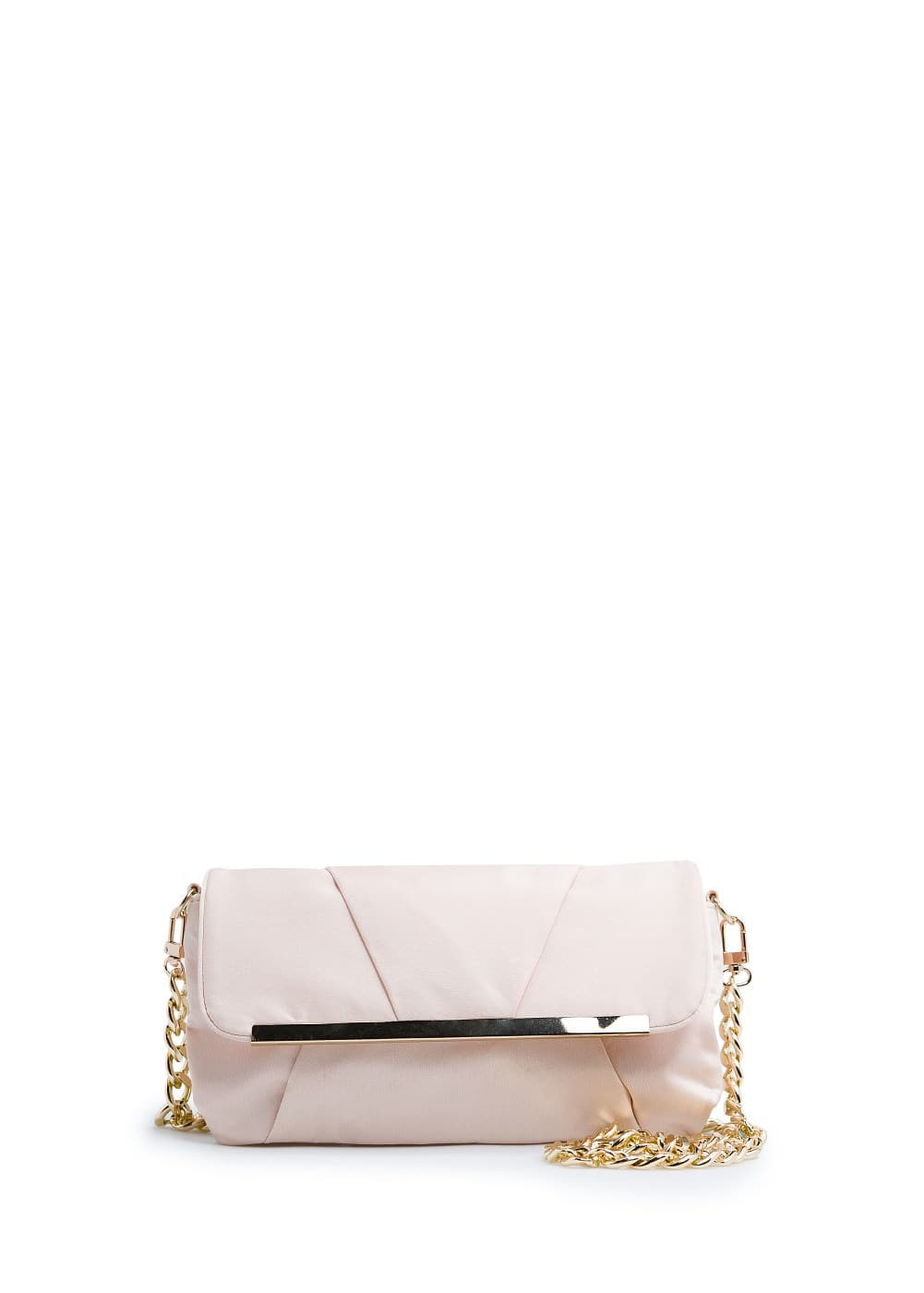 Satin-finish clutch | MANGO