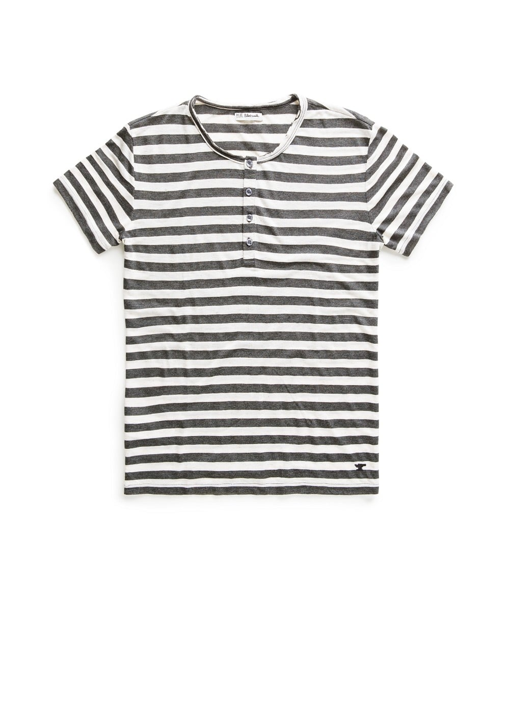 Striped henley t-shirt | MANGO MAN