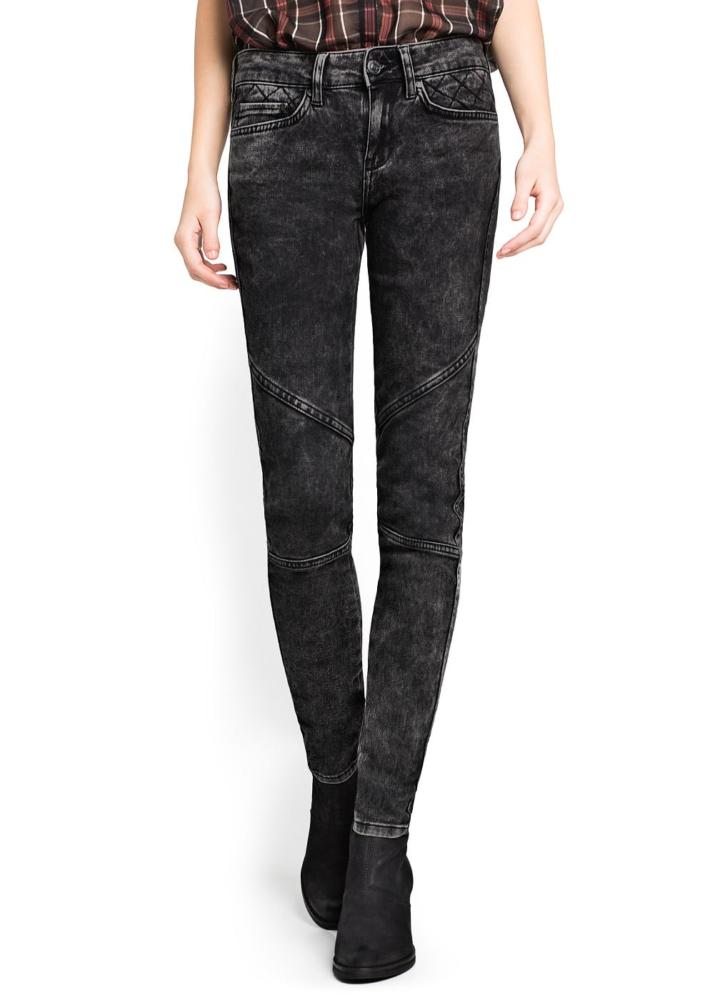 Super slim-fit biker bambi jeans | MANGO