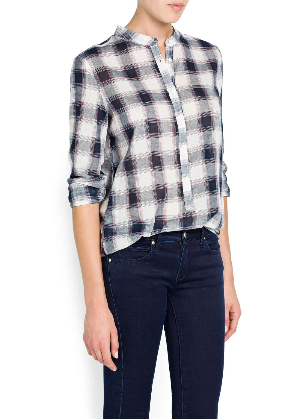 Check cotton shirt | MANGO