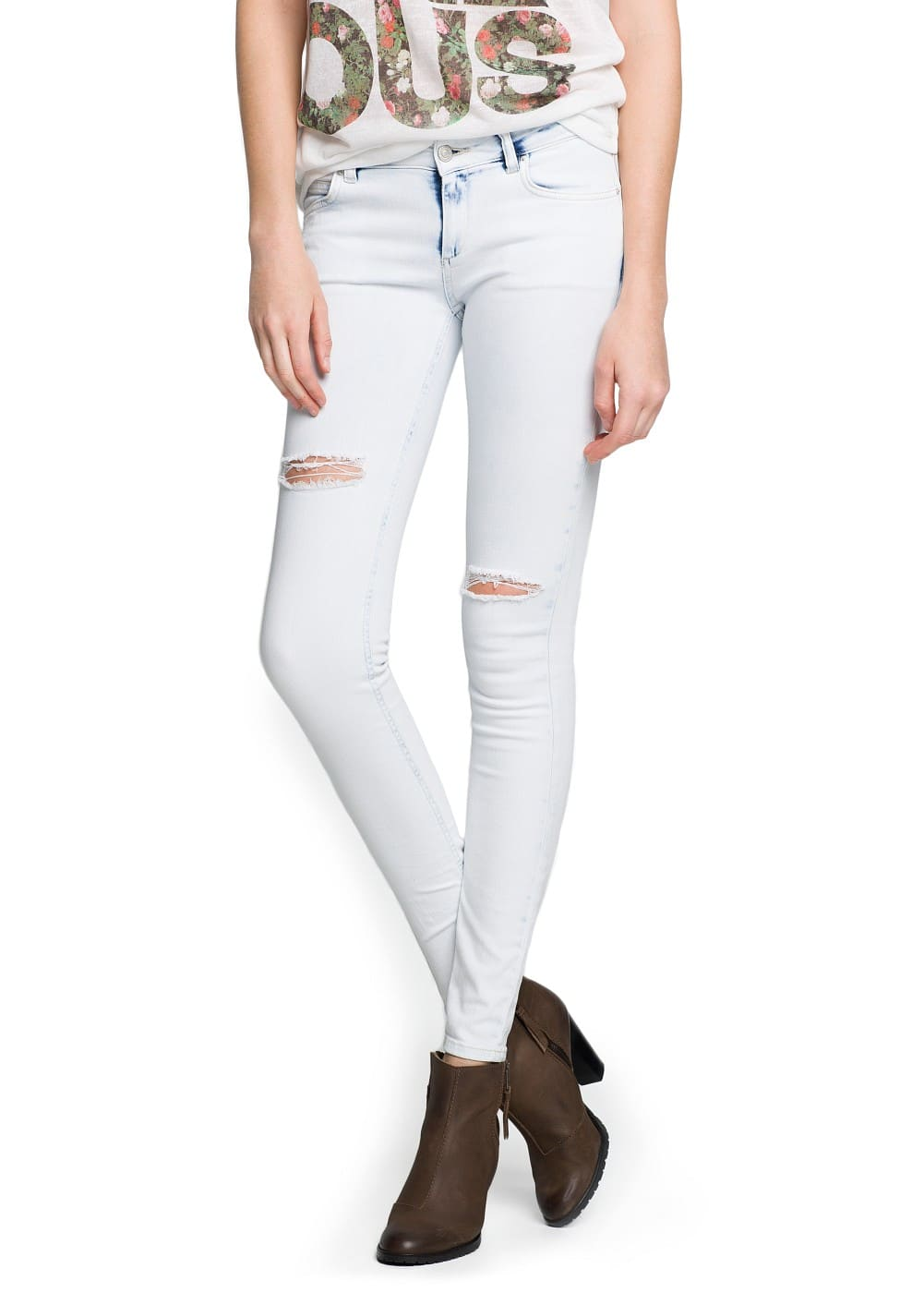 Super slim-fit skin jeans | MANGO
