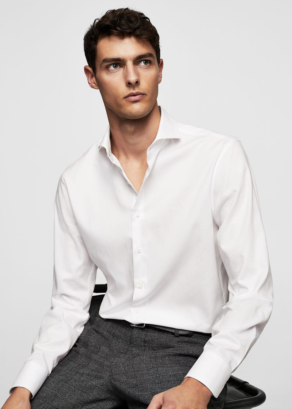 Camisa tailored slim cotó | MANGO MAN