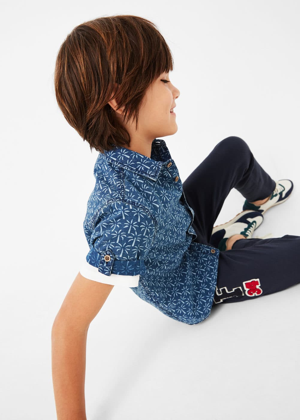 Palm print shirt | MANGO KIDS