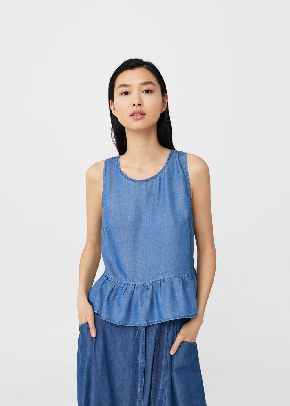 Ruffles soft top | MANGO