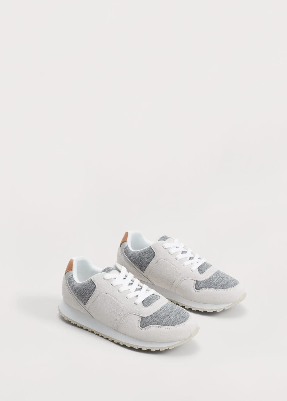 Contrast materials sneakers | VIOLETA BY MNG