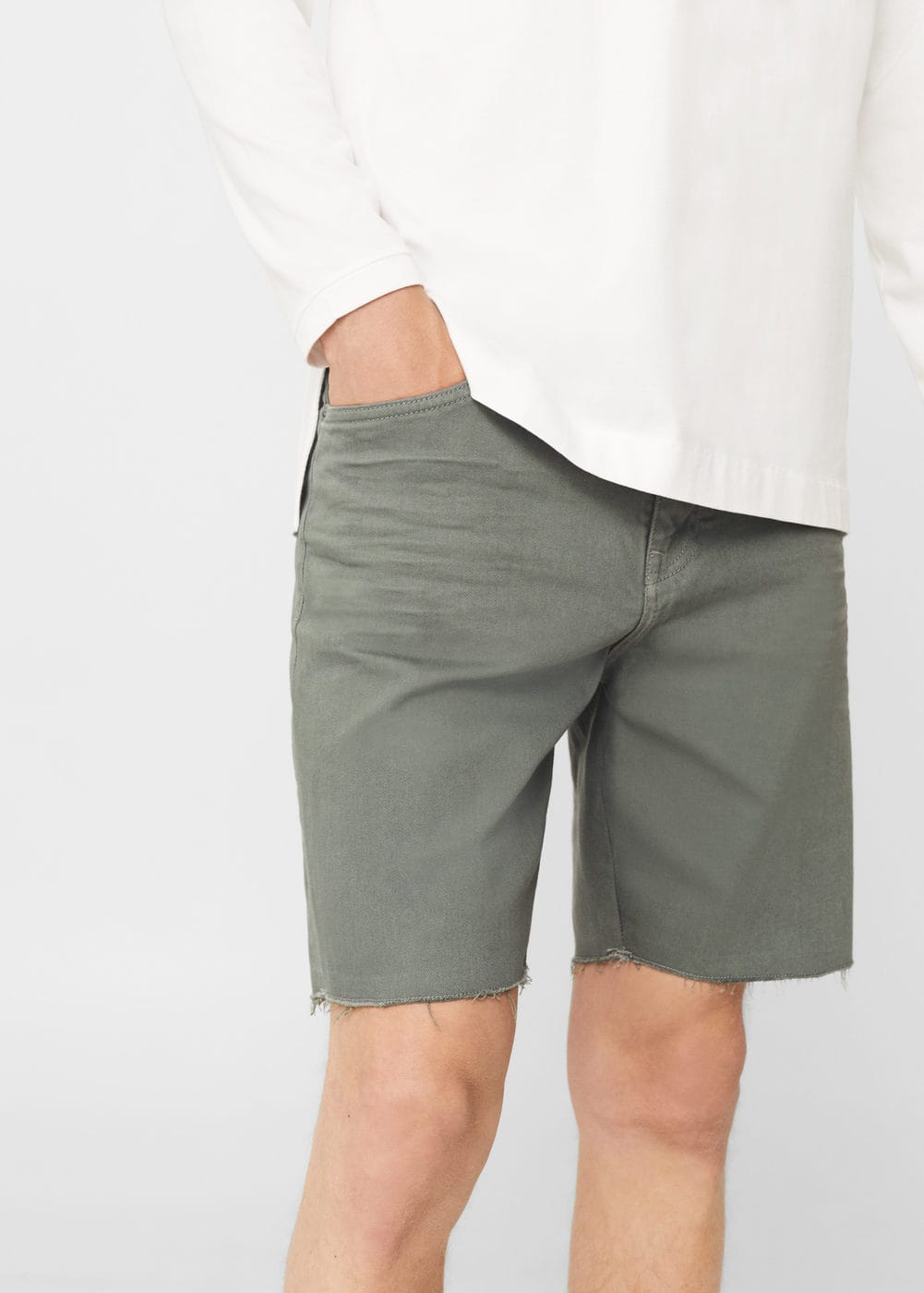 Denim bermuda shorts | MANGO MAN