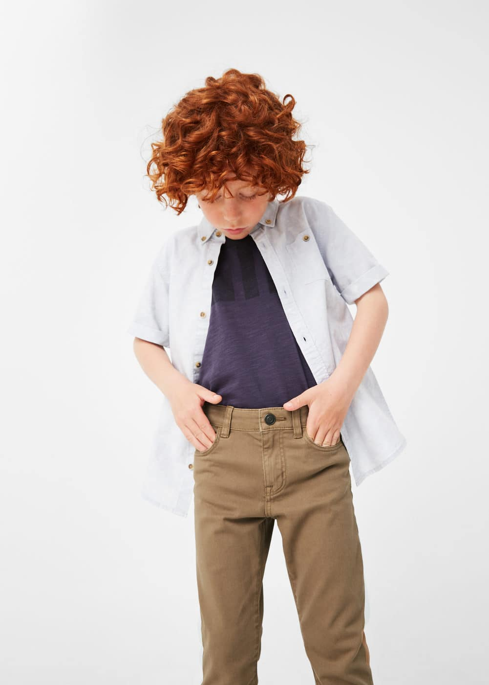 Pocket cotton trousers | MANGO KIDS