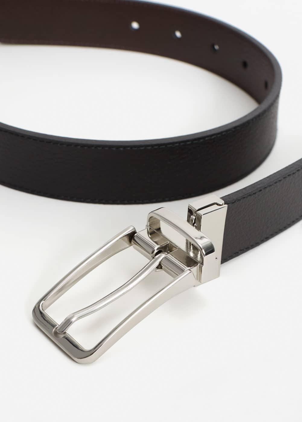 Reversible suit leather belt | MANGO