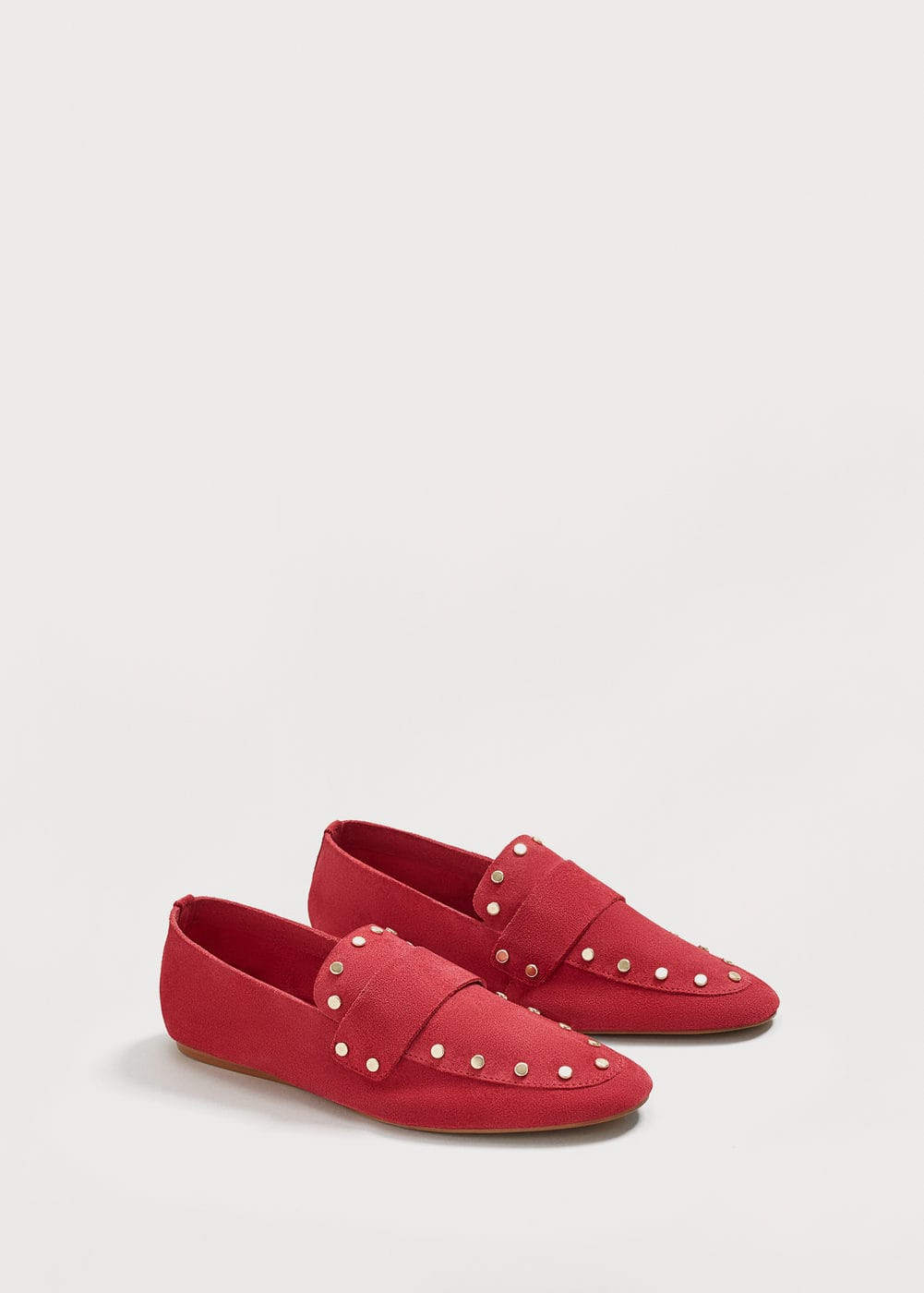 Studded leather loafers | MANGO