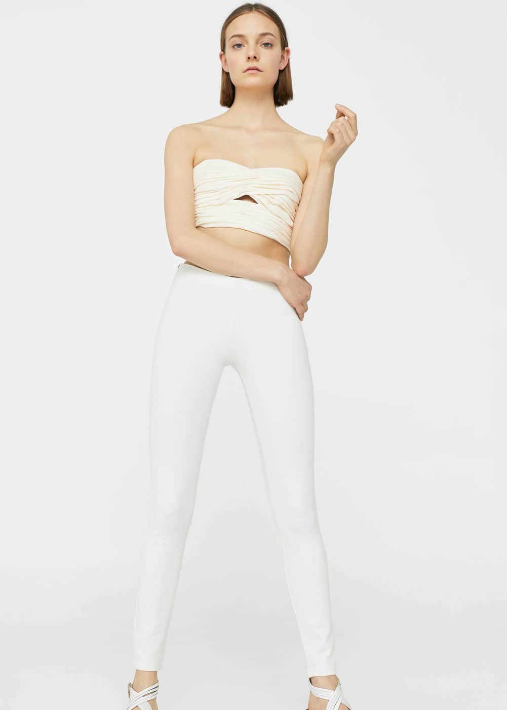 Contrast zip leggings | MANGO