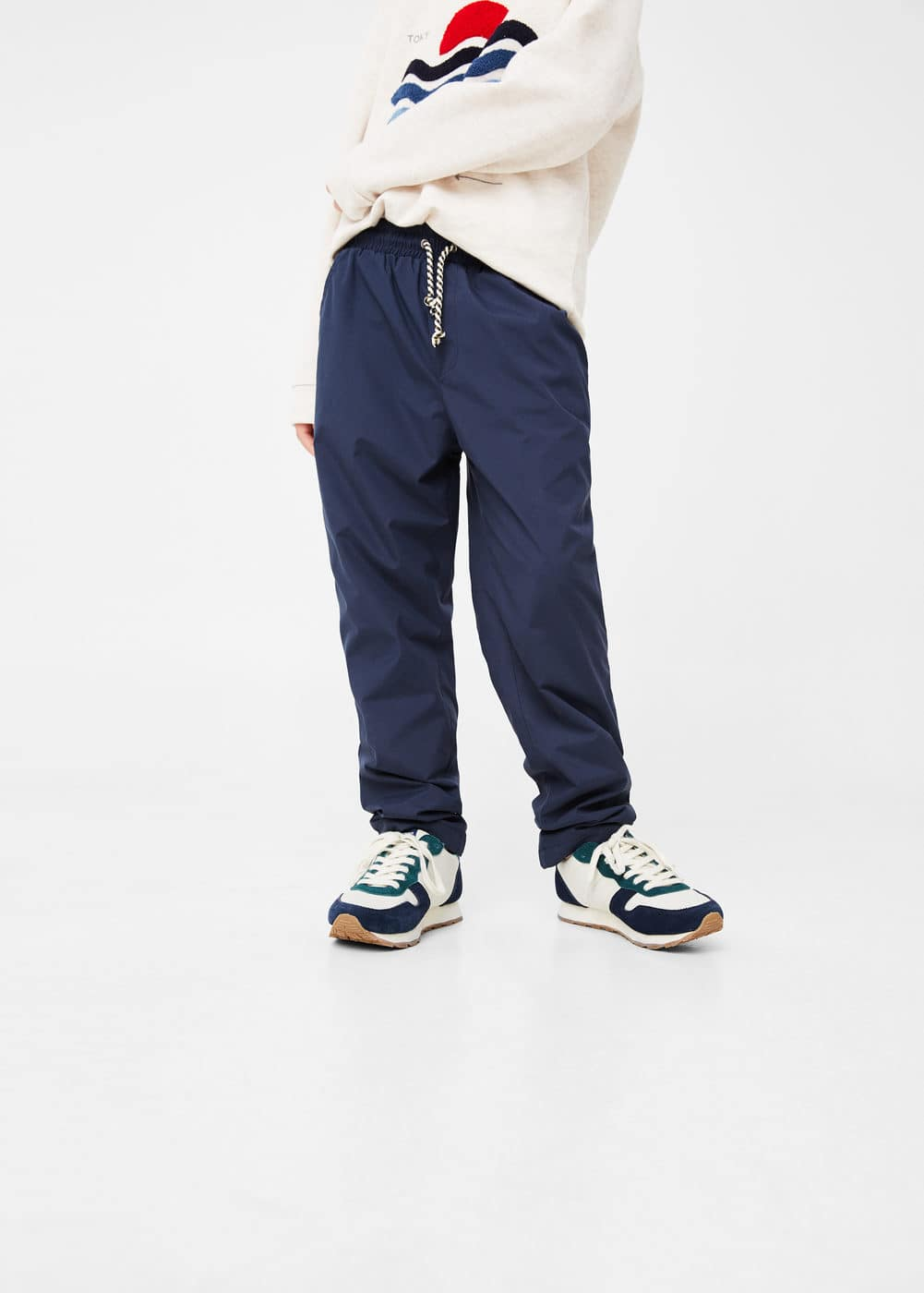 Drawstring baggy trousers | MANGO KIDS