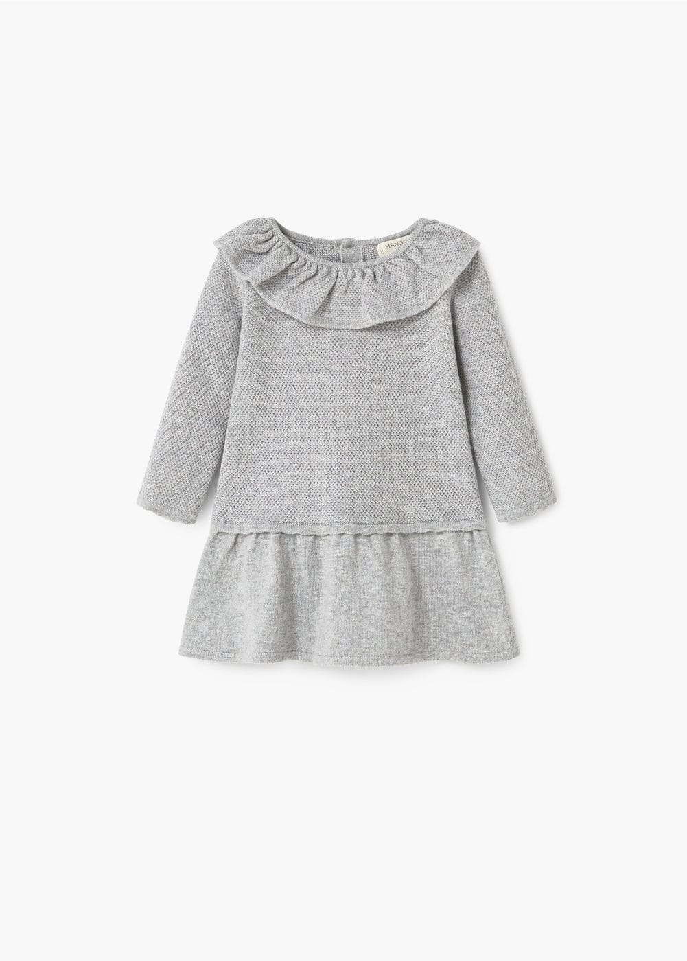 Frill cotton dress | MANGO KIDS