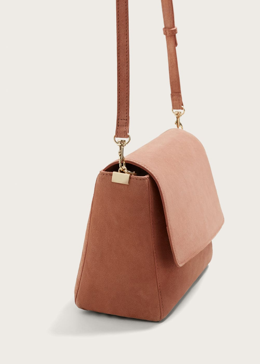 Leather cross body bag | MANGO