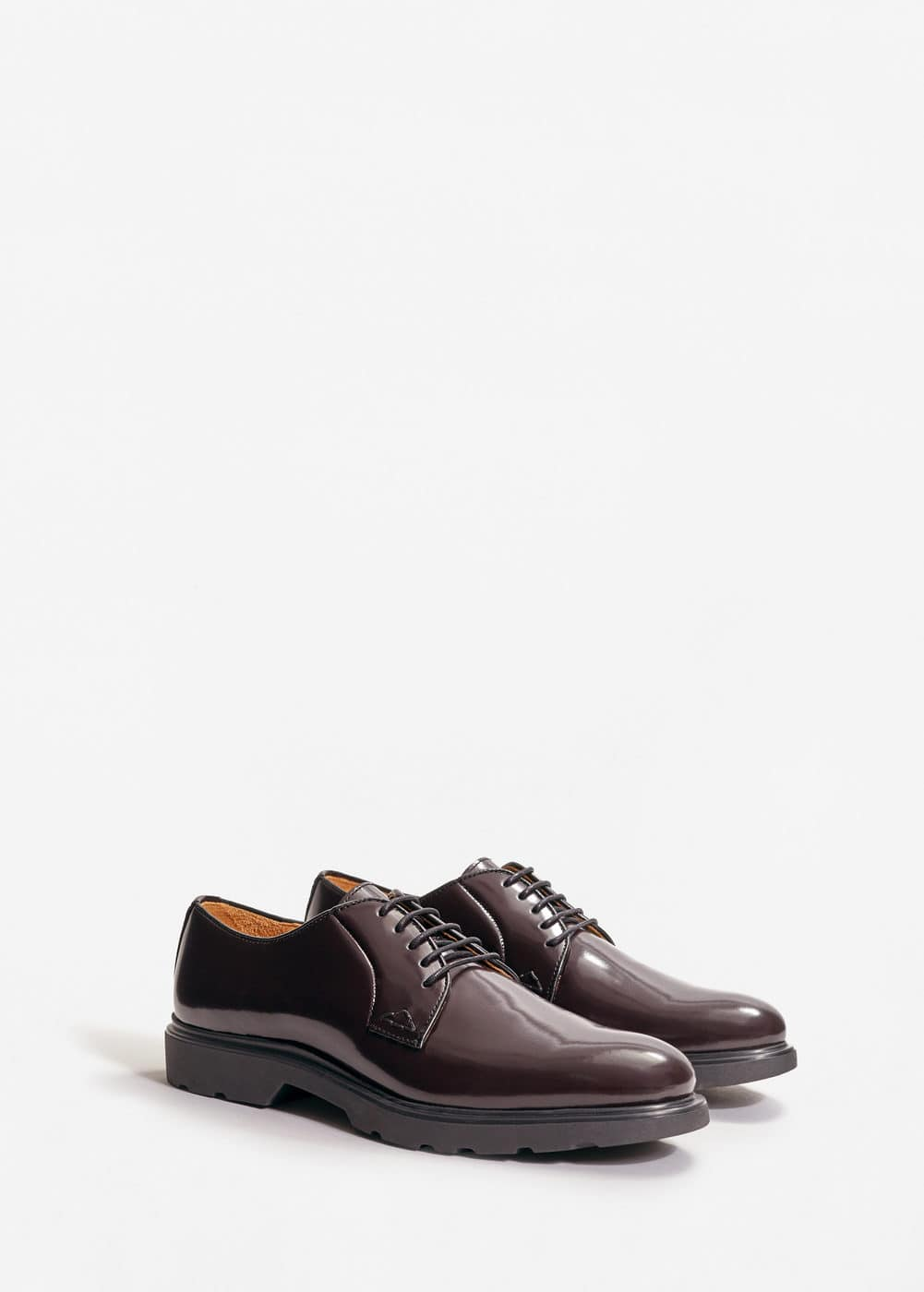 Leather blucher shoes | MANGO