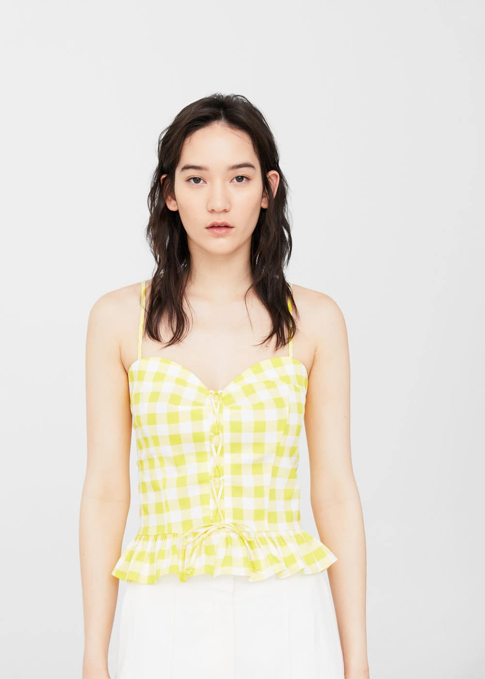 Top quadri vichy | MANGO