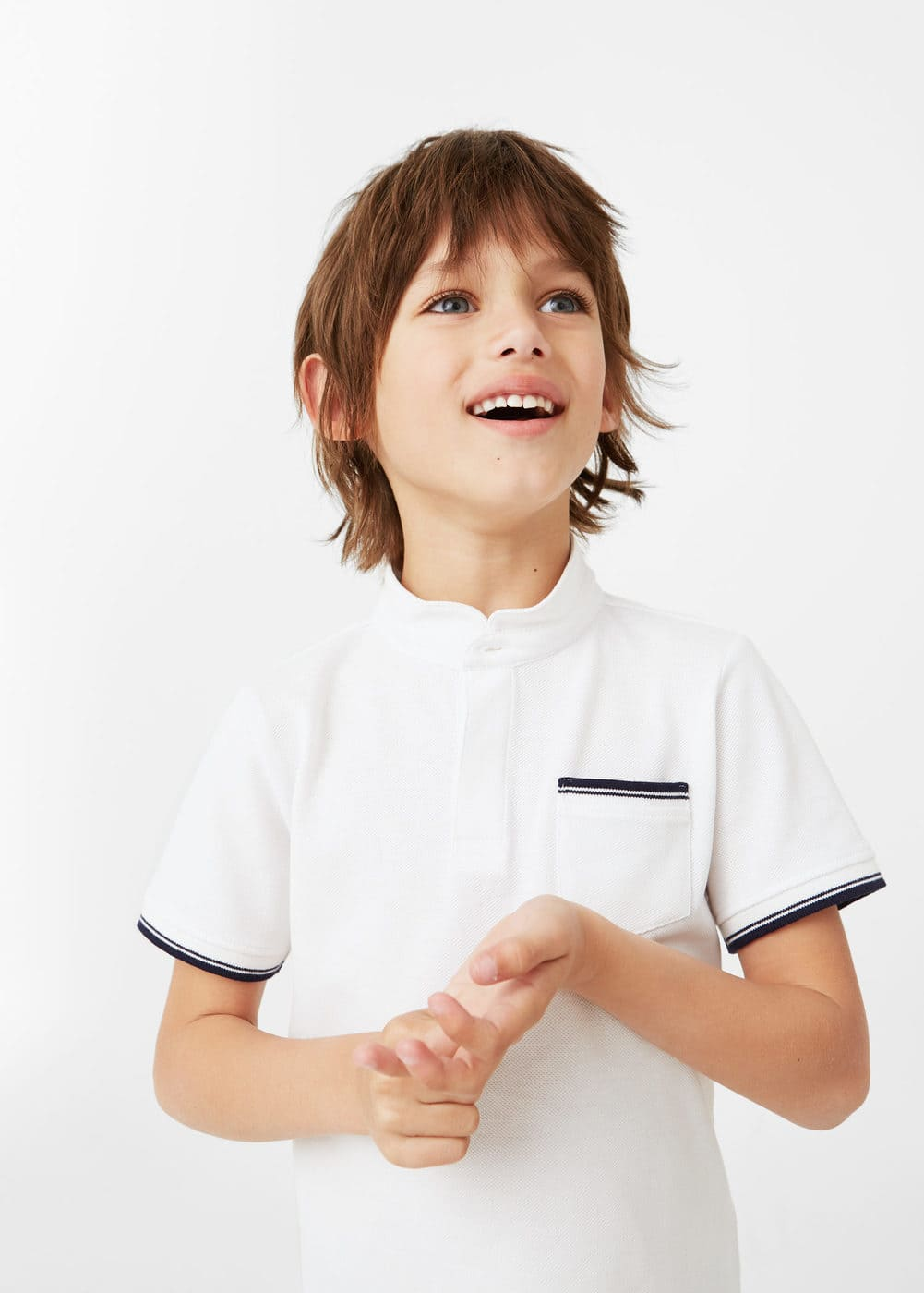 Chest-pocket cotton piqué pocket polo shirt | MANGO